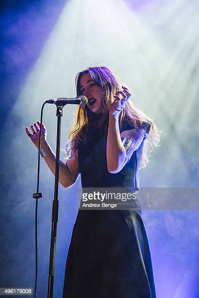 Zola Jesus performs on stage at Islington Assembly Hall on November 7 2015 in London England