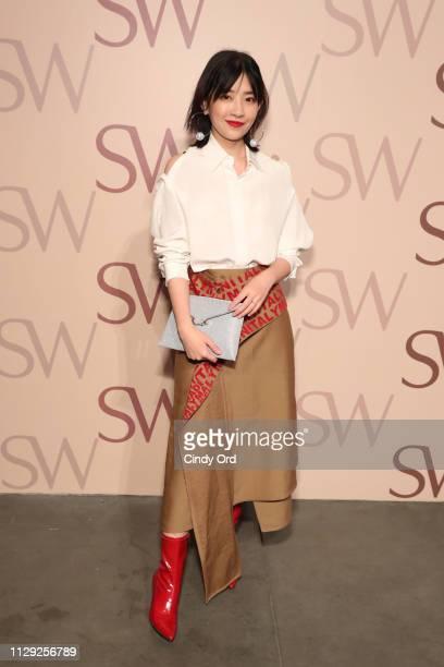 Zola Zhang attends Stuart Weitzman Spring Celebration 2019 on February 12 2019 in New York City