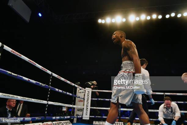 Zolani Tete knocks out Siboniso Gonya with his first punch after only a few seconds during their WBO Bantamweight Championship of the World title...
