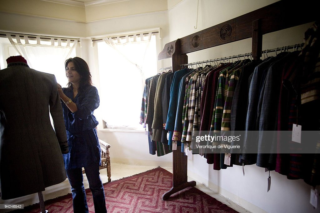 Zolaykha Sherzad, an Afghan fashion designer, in her workshop in Kabul.