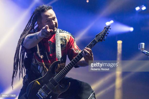Zoltan Bathory of Five Finger Death Punch performs live on stage at The SSE Hydro on December 18 2017 in Glasgow Scotland
