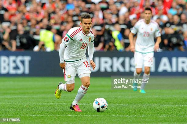 Zoltan STIEBER of Hungary during the UEFA EURO 2016 Group F match between Iceland and Hungary at Stade Velodrome on June 18 2016 in Marseille France