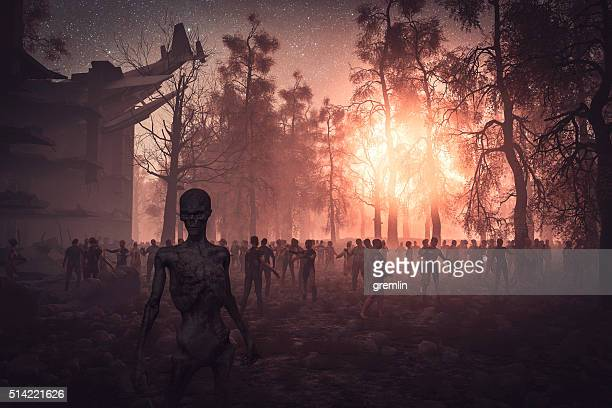zombie apocalypse, zhe end - hell stock pictures, royalty-free photos & images