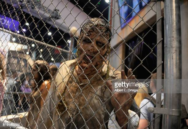Zombie at AMC's The Walking Dead Booth at ComicCon International 2017 Preview Night held at San Diego Convention Center on July 19 2017 in San Diego...