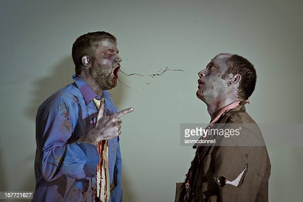 zombie boss - zombie makeup stock photos and pictures