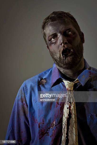 zombie drool - zombie face stock photos and pictures