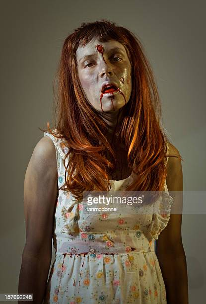 zombie girl - zombie girl stock photos and pictures