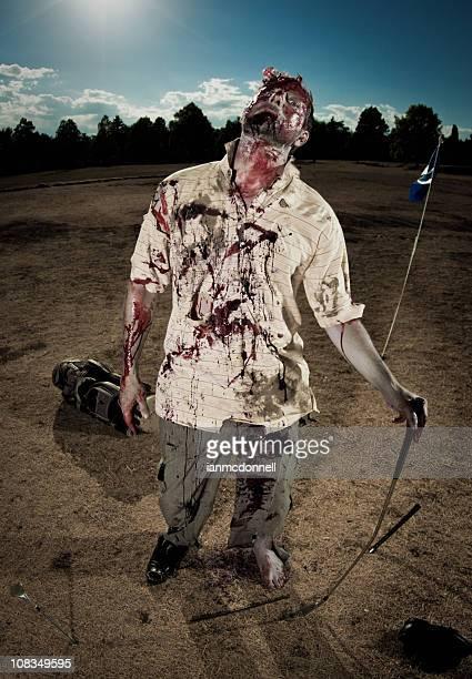 zombie golfista - sangre humana fotografías e imágenes de stock