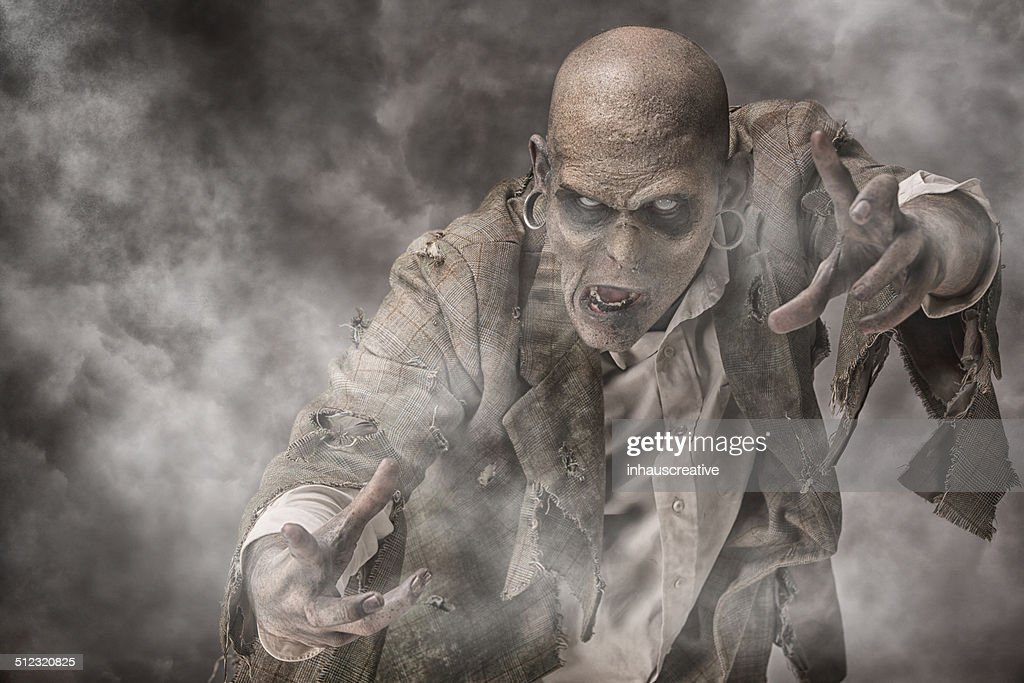Zombie In The Fog Stock Photo Getty Images