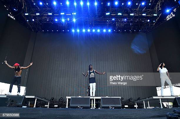 Zombie Juice Meechy Darko and Erick The Architect Elliott of Flatbush ZOMBiES performs onstage at the 2016 Panorama NYC Festival Day 3 at Randall's...