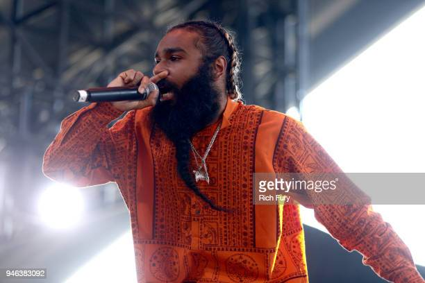 Zombie Juice of Flatbush Zombies performs onstage during 2018 Coachella Valley Music And Arts Festival Weekend 1 at the Empire Polo Field on April 14...