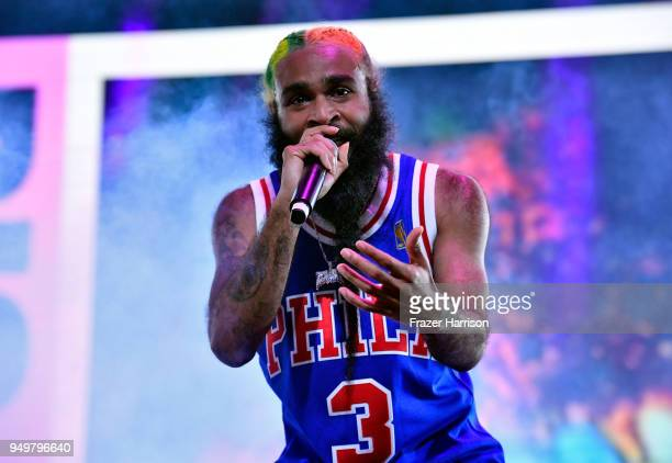 Zombie Juice of Flatbush Zombies performs onstage during the 2018 Coachella Valley Music And Arts Festival at the Empire Polo Field on April 21 2018...