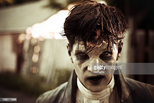 zombie monster glaring - frankenstein stock photos and pictures
