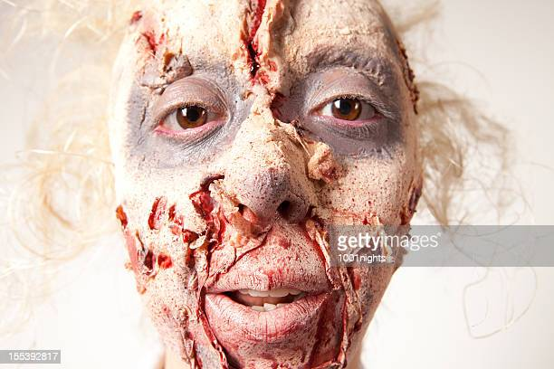 zombie - very ugly women stock photos and pictures