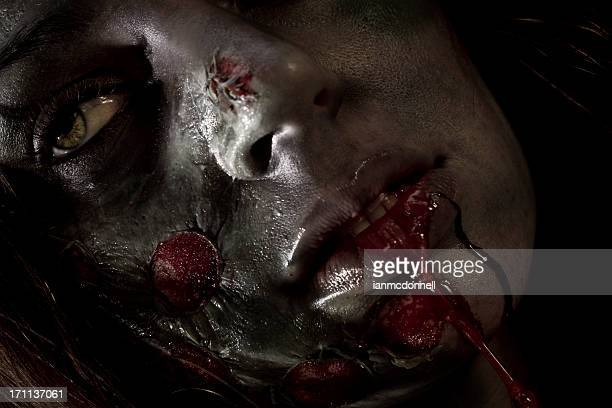 zombie - zombie face stock photos and pictures
