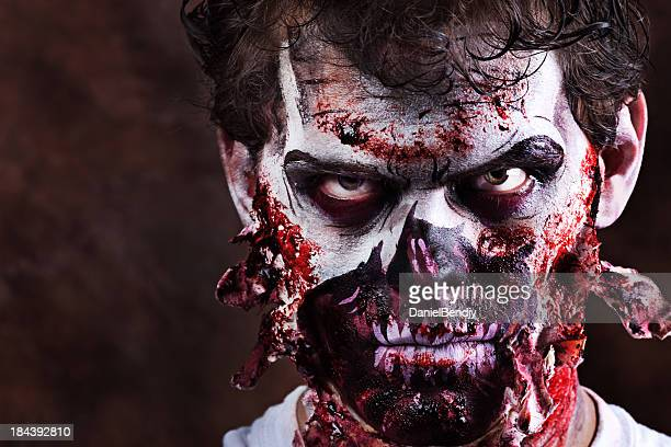 zombie - zombie makeup stock photos and pictures