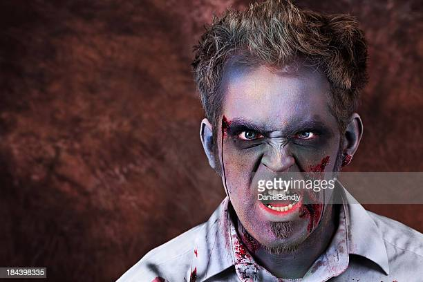 zombi - zombie makeup fotografías e imágenes de stock
