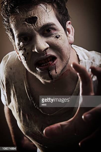 zombie portrait - human blood stock pictures, royalty-free photos & images