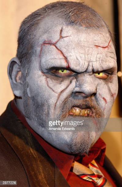 A zombie roams the red carpet at the Lions Gate Home Entertainment DVD release party of House of 1000 Corpses at Club AD on August 6 2003 in...