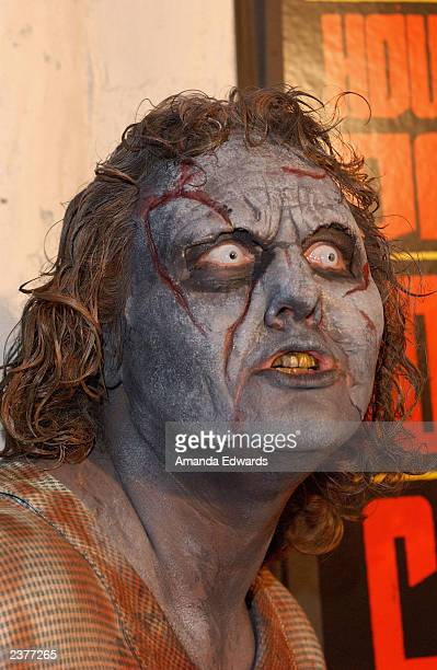 A zombie roams the red carpet at the Lions Gate Home Entertainment DVD release party of 'House of 1000 Corpses' at Club AD on August 6 2003 in...