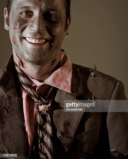 zombie smile - zombie makeup stock photos and pictures