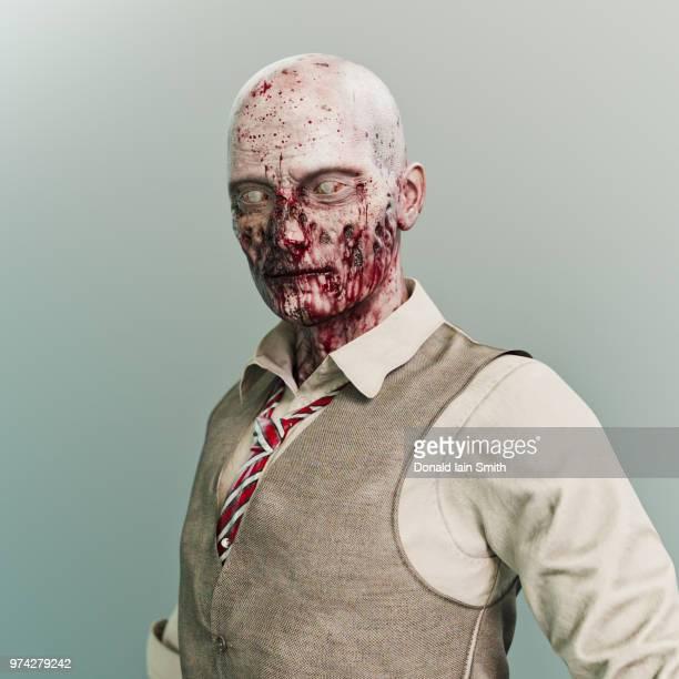 Zombie: surreal studio portrait of a zombie