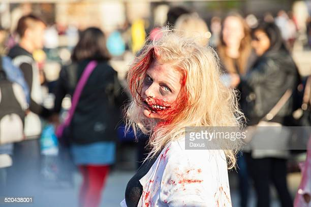 zombie walk - zombie walk stock photos and pictures