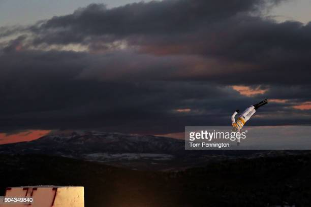 Zongyang Jia of China competes in the Men's Aerials qualifying during the 2018 FIS Freestyle Ski World Cup at Deer Valley Resort on January 12 2018...
