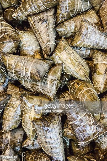 Zongzi the sticky rice dumpling wrapped in bamboo