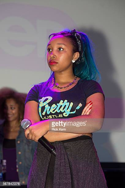 Zonnique Pullins aka Miss Star of the OMG Girlz visits Round Rock Texas students with the Get Schooled Victory Tour at Stony Point High School on...