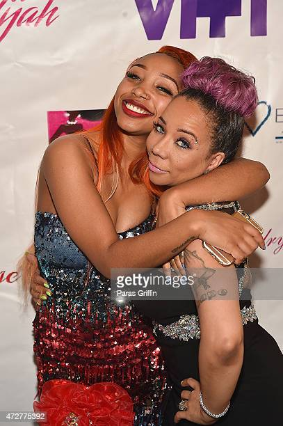 Zonnique Pullins and Tameka 'Tiny' Harris attend 2nd Annual Mother Daughter Brunch Pageant at Klass Restaurant on May 9 2015 in Atlanta Georgia