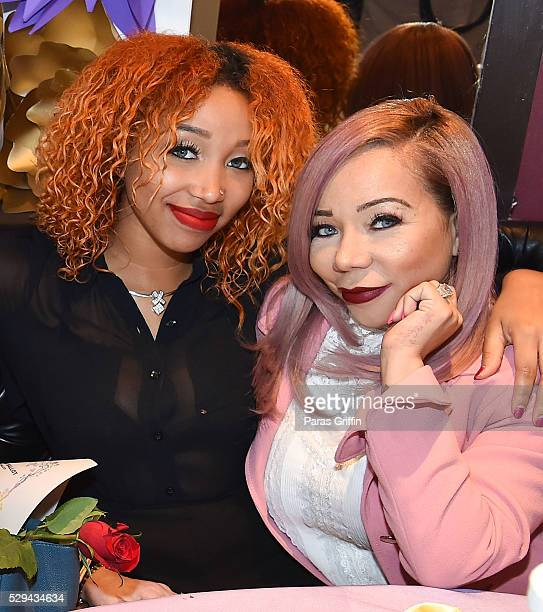 Zonnique Pullins and Tameka 'Tiny' Harris attend Tiny's 3rd Annual Mother Daughter Brunch Pageant at Scales 925 Restaurant on May 8 2016 in Atlanta...