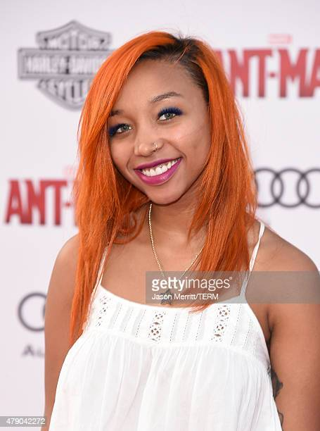 Zonnique Pullins arrives at the Los Angeles Premiere of Marvel Studios 'AntMan' at Dolby Theatre on June 29 2015 in Hollywood California