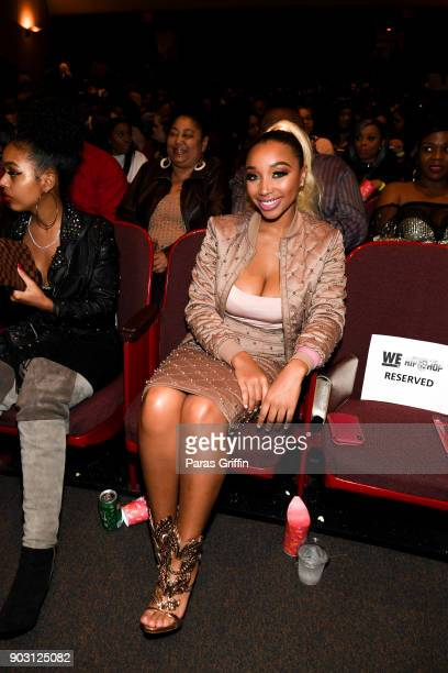 Zonnique Pullins attends Growing Up Hip Hop Atlanta season 2 premiere party at Woodruff Arts Center on January 9 2018 in Atlanta Georgia
