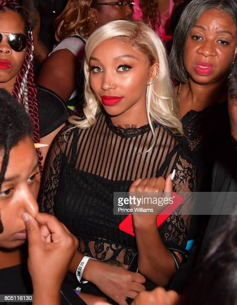 Zonnique Pullins attends the Celebrity Basketball Game During the 2017 BET Experience at the Los Angeles Convention Center on June 24 2017 in Los...