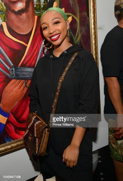 Zonnique Pullins attends the Dime Trap Album release Event at The Trap Museum on October 4 2018 in Atlanta Georgia