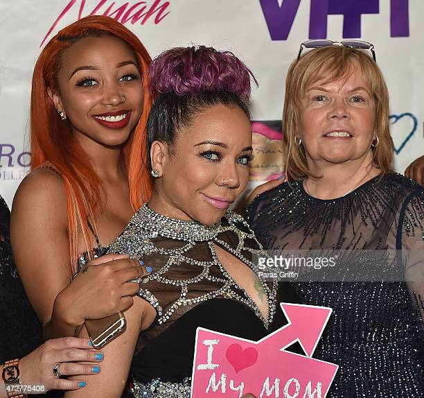 Zonnique Pullins Tameka 'Tiny' Harris and Diane CottlePope attend 2nd Annual Mother Daughter Brunch Pageant at Klass Restaurant on May 9 2015 in...