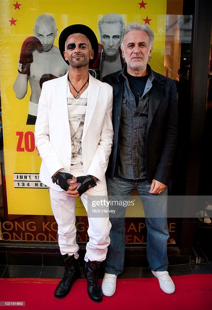 Zoobs and Lodola attend the Zoobs vs. Lodola private view at Opera Gallery on June 16, 2010 in London, England.