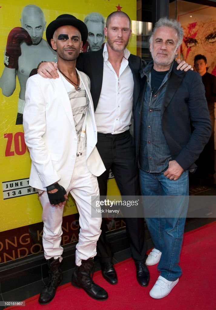 Zoobs, Jean-David Malat and Lodola attend the Zoobs vs. Lodola private view at Opera Gallery on June 16, 2010 in London, England.