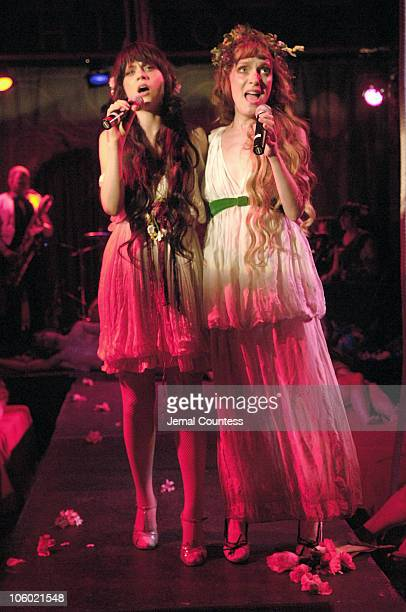 Zooey Deschanel and Amy Miles during Declare Peace A Peace Games Benefit Featuring The Citizen's Band at The Hiro Ballroom at the Maritime Hotel in...