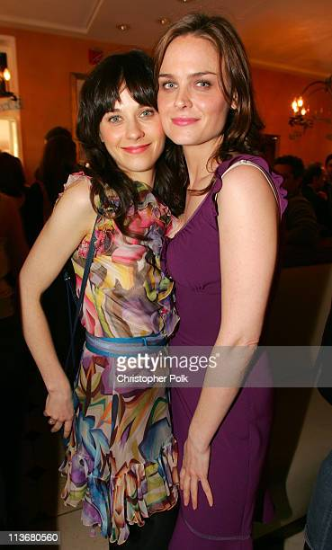 Zooey Deschanel and Emily Deschanel during Film Independent's 2006 Independent Spirit Awards IFC After Party at Shutters in Santa Monica California...