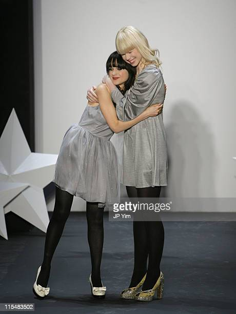 Zooey Deschanel and Erin Fetherston designer during MercedesBenz Fashion Week Fall 2007 Erin Fetherston Runway at Showroom in New York City New York...