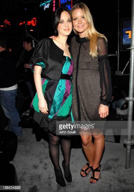 Zooey Deschanel and Jaime King during Volkswagen Presents The US Premiere of CONCEPT TIGUAN Party at Raleigh Studios in Los Angeles California United...