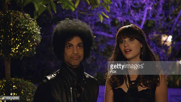 Zooey Deschanel and music royalty Prince in the 'Prince' episode of NEW GIRL airing Sunday Feb 2 immediately after FOX Sports' coverage of SUPER BOWL...