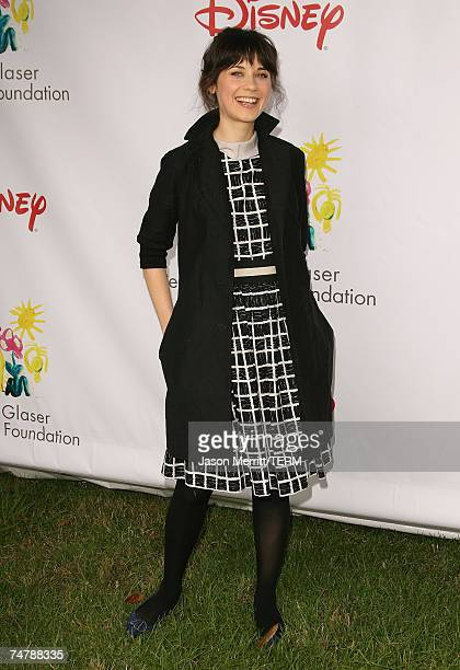 Zooey Deschanel at the 'A Time for Heroes' Carnival Hosted By Disney Arrivals at Wadsworth Theater in Westwood California