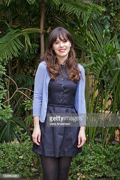 """Zooey Deschanel at the """"New Girl"""" Press Conference at the Four Seasons Hotel on October 10, 2012 in Beverly Hills, California."""