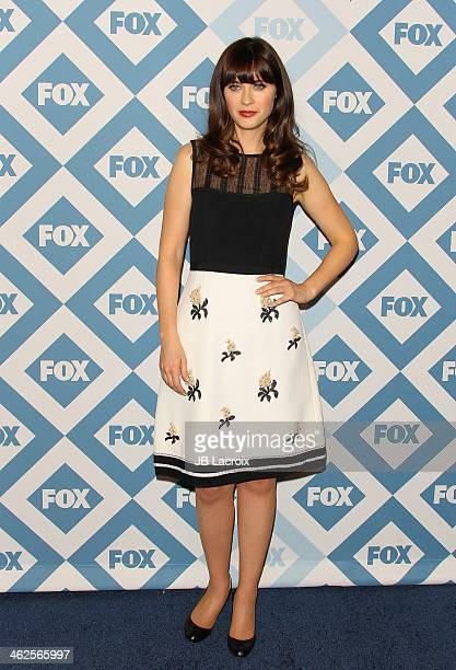 Zooey Deschanel attends the 2014 TCA Winter Press Tour FOX AllStar Party held at The Langham Huntington Hotel and Spa on January 13 2014 in Pasadena...