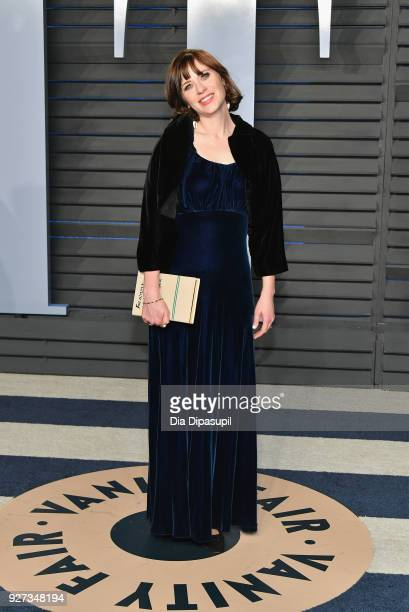 Zooey Deschanel attends the 2018 Vanity Fair Oscar Party hosted by Radhika Jones at Wallis Annenberg Center for the Performing Arts on March 4 2018...