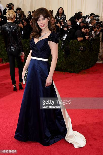 Zooey Deschanel attends the Charles James Beyond Fashion Costume Institute Gala at the Metropolitan Museum of Art on May 5 2014 in New York City