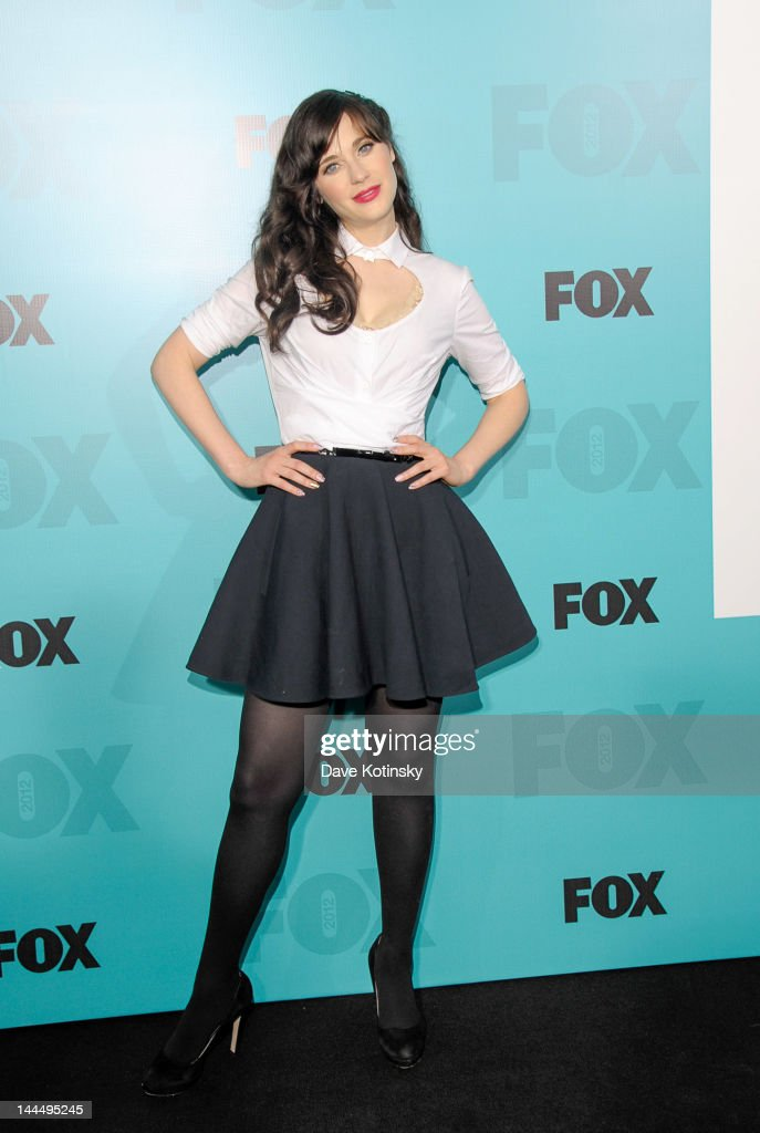 Zooey Deschanel attends the Fox 2012 Programming Presentation Post-Show Party at Wollman Rink - Central Park on May 14, 2012 in New York City.